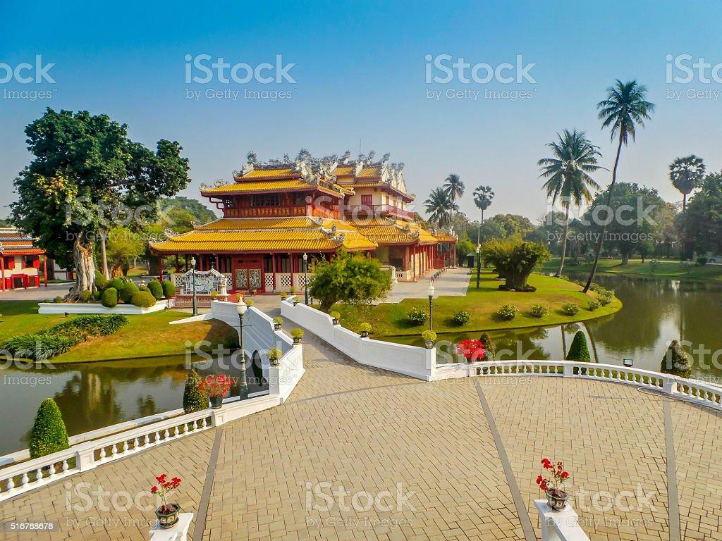 Bang pa-in Chinese palace stock photo