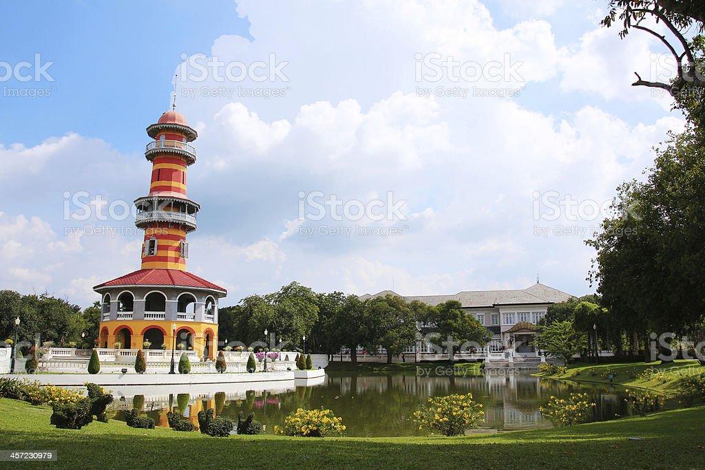 Bang Pa-In Royal Palace in Ayutthaya Thailand stock photo