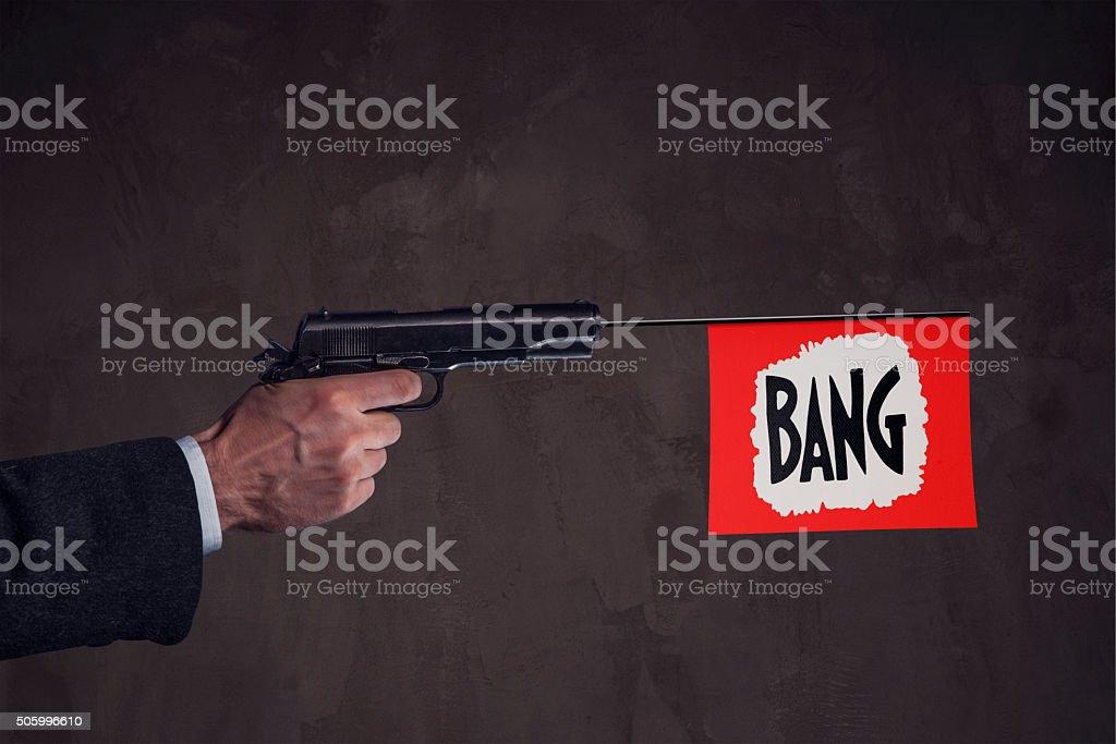 Bang stock photo