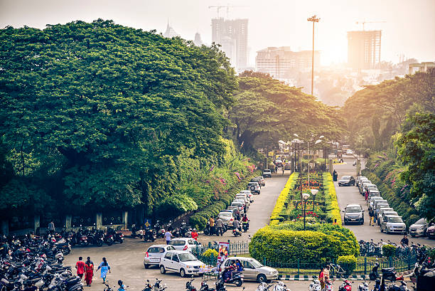 Bangalore city scape Bangalore city scape shot with full frame Nikon d750 bangalore stock pictures, royalty-free photos & images