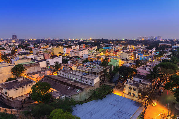 Bangalore City skyline, India Bangalore City skyline, India bangalore stock pictures, royalty-free photos & images