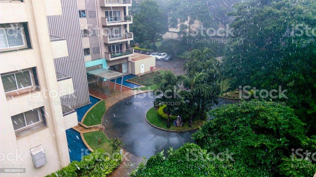 bangalore monsoon stock photo