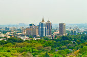 istock Bangalore or bengalurucity scape with green trees on foreground 175633219