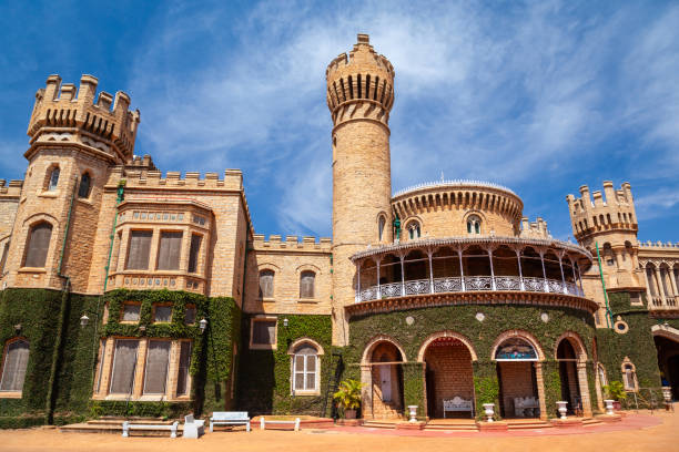 Bangalore Palace in Bangalore, India Bangalore Palace is a british style palace located in Bangalore city in Karnataka, India bangalore stock pictures, royalty-free photos & images