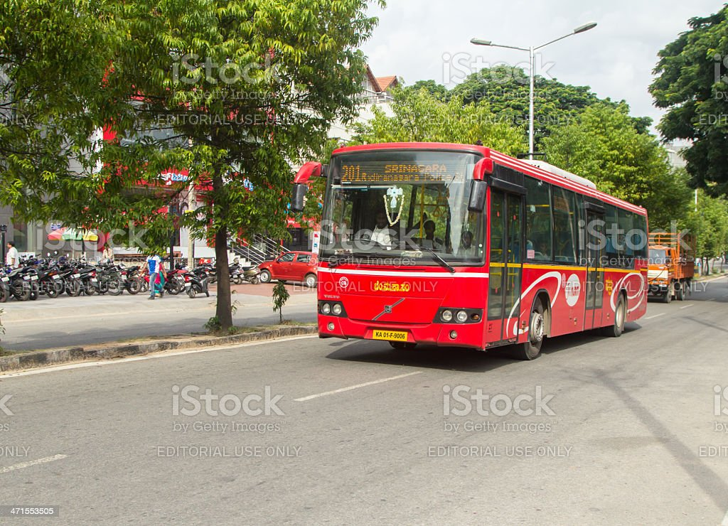 Bangalore public bus royalty-free stock photo