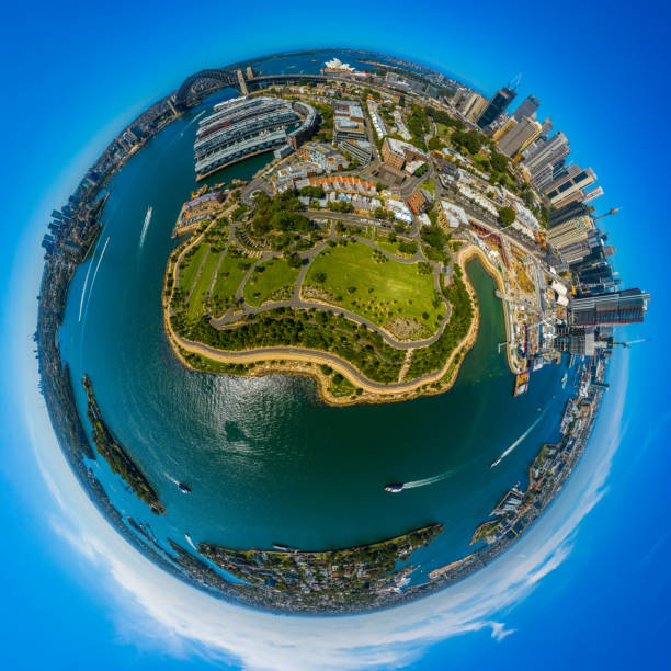 Bangaroo urban renewal district panorama Sydney Australia