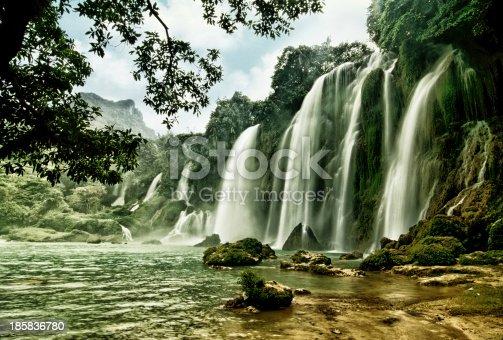 483422527istockphoto BanGioc waterfall in CaoBang, VietNam 185836780