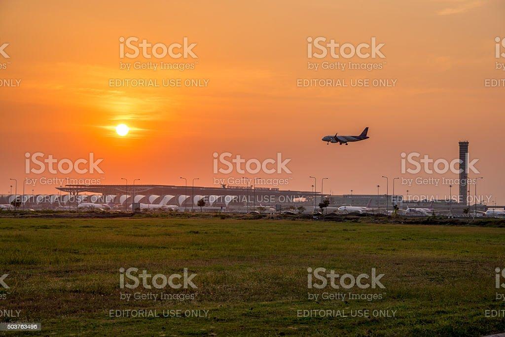 El Aeropuerto de bangkok, Tailandia - foto de stock