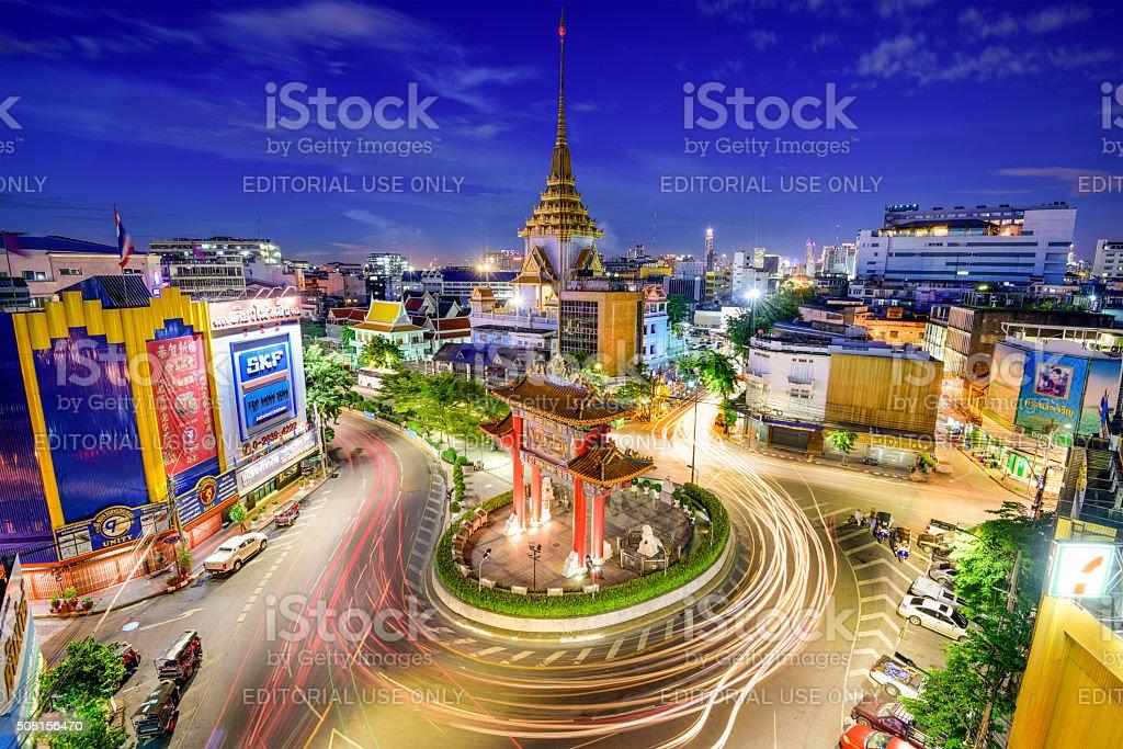 Bangkok at Chinatown stock photo