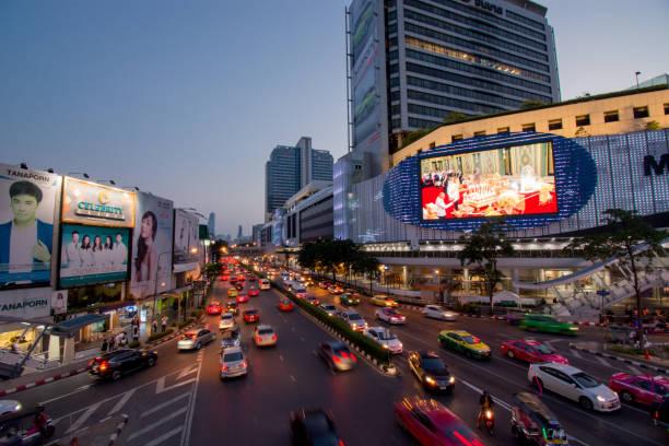Bangkok in der Abenddämmerung – Foto