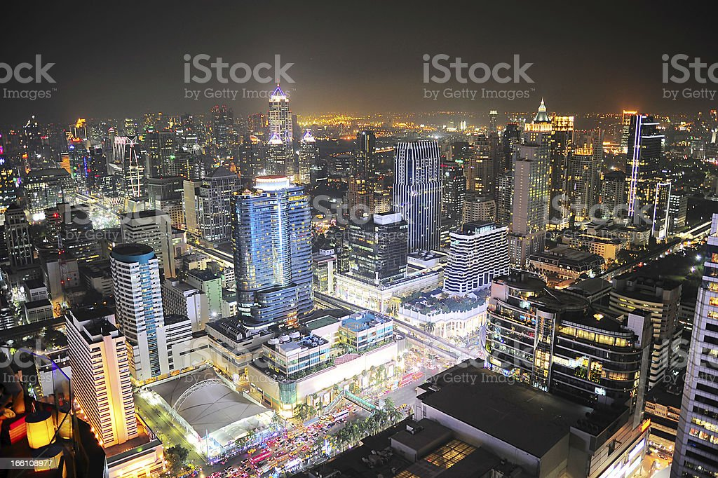 Bangkok at night royalty-free stock photo