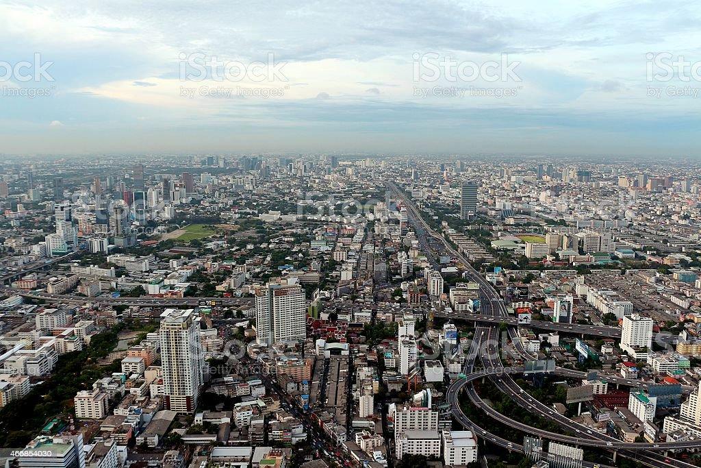 Oiseau oeil vue ville de bangkok photo libre de droits