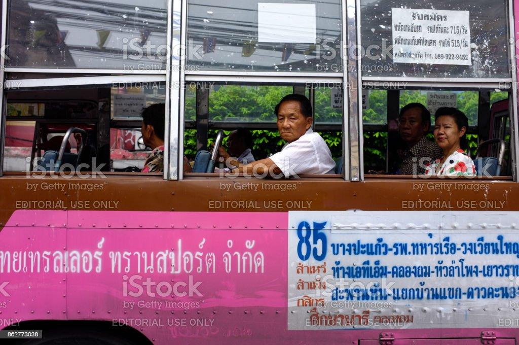 Bangkok Bus, Bangkok, Thailand stock photo