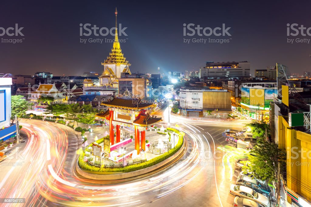 Bangkok Chinatown stock photo