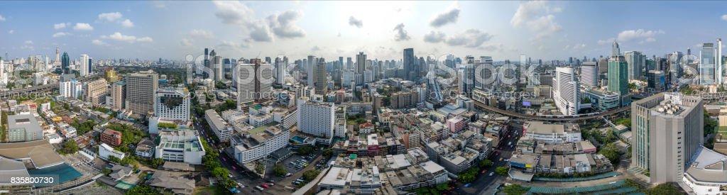 Panorama à 360° ville de Bangkok, Sukhumvit Road et Nana - Photo