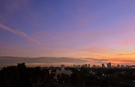 istock Bangkok city at sunset 848311902