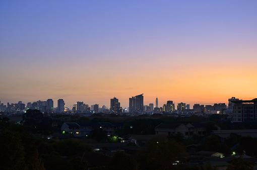 istock Bangkok city at sunset 848313980