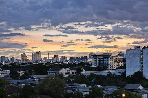 istock Bangkok city at sunset 848314126