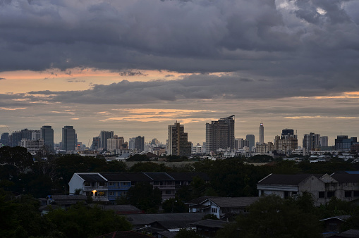 istock Bangkok city at sunset 848314198