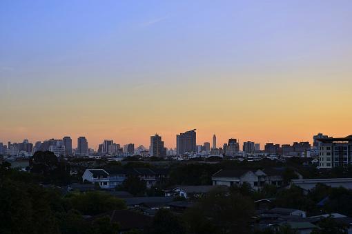 istock Bangkok city at sunset 848314238