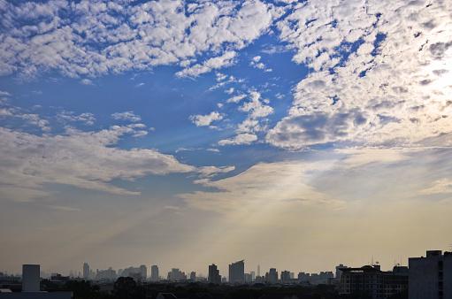istock Bangkok city at sunset 859001322