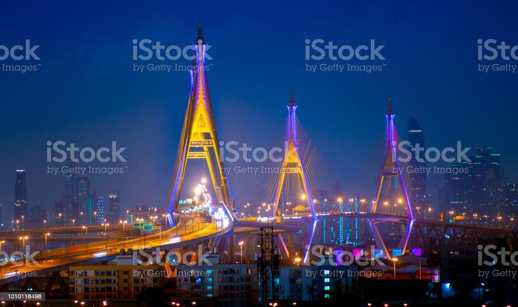 在黃昏時分的曼谷市圖像檔