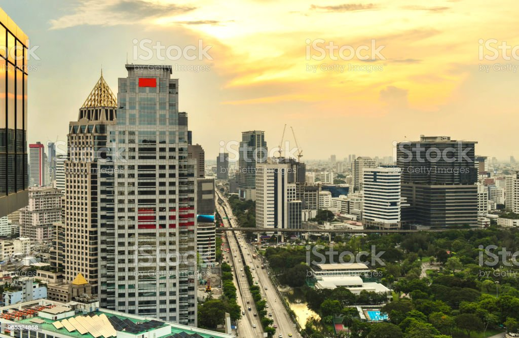 Bangkok city central business downtown zbiór zdjęć royalty-free
