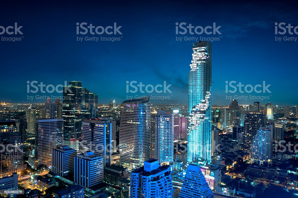 Bangkok city skyline stock photo