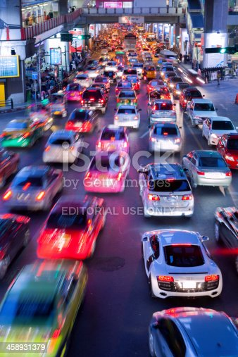 istock Bangkok City Traffic @ Night 458931379