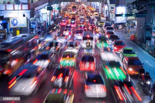istock Bangkok City Traffic @ Night 458960353