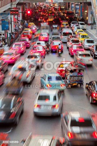 144334852 istock photo Bangkok City Traffic @ Night 459248589
