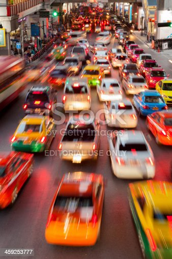 144334852 istock photo Bangkok City Traffic @ Night 459253777