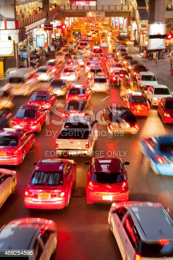 144334852 istock photo Bangkok City Traffic @ Night 459254595
