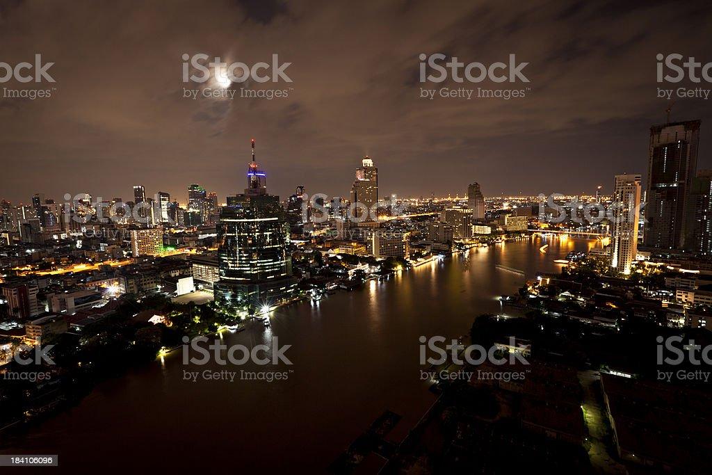 bangkok city view at night royalty-free stock photo