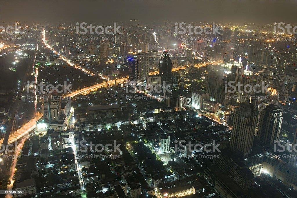 Bangkok Cityscape at night royalty-free stock photo
