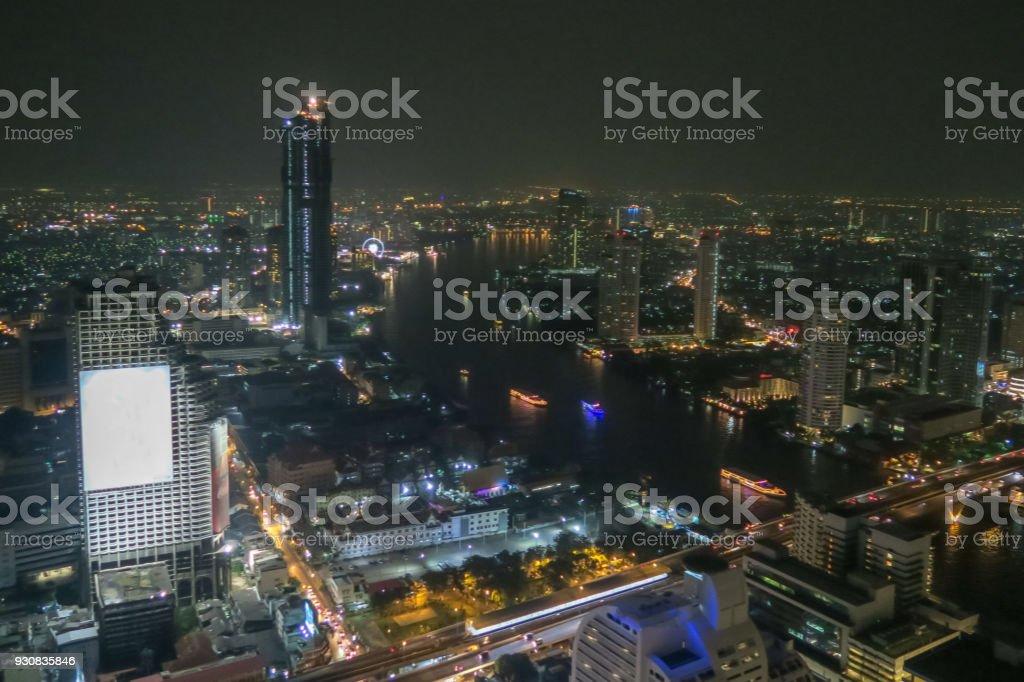 Bangkok Cityscape at Night stock photo