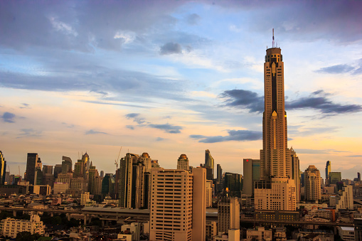 istock Bangkok Cityscape, Baiyoke Tower with twilight sky as background in Bangkok. Thailand, Southeast Asia. 826058210