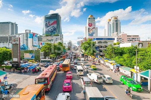 istock Bangkok Cityscape, Business district with high building at dusk (Bangkok, Thailand) 652150698