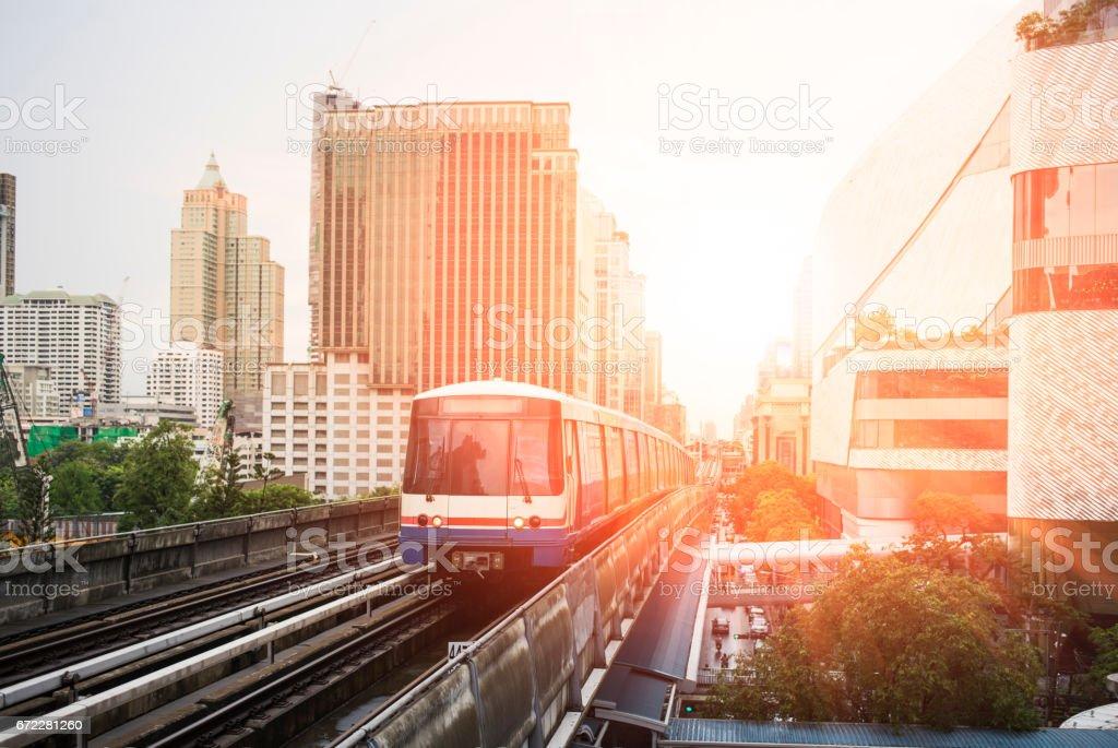 Bangkok cityscape in the morning stock photo