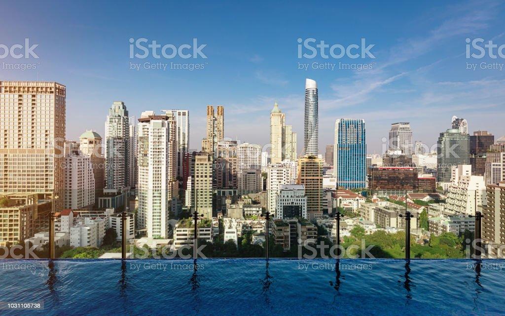 Bangkok Cityscape Modern Skyscrapers Thailand stock photo