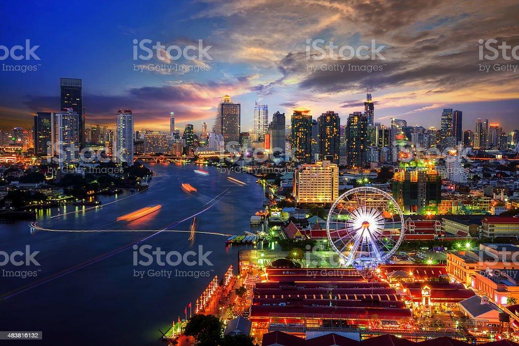 Paesaggio urbano di Bangkok - foto stock