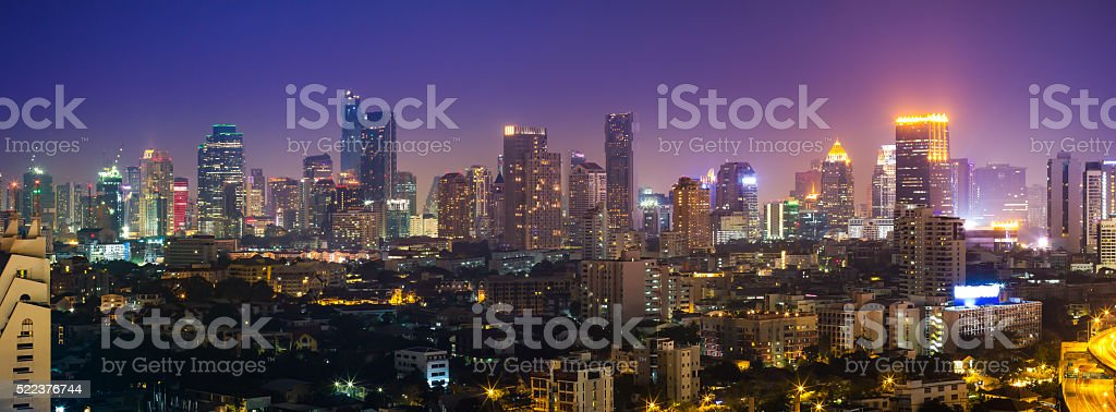 Bangkok cityscape, View high building in the business district . stock photo