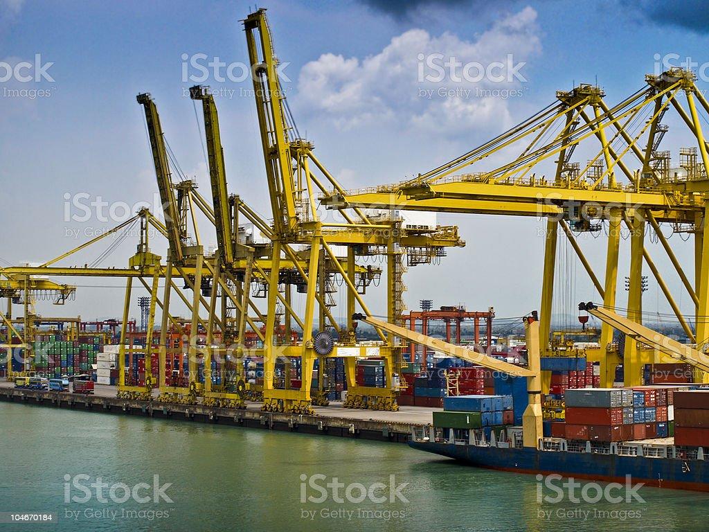 bangkok docks haulage industry royalty-free stock photo