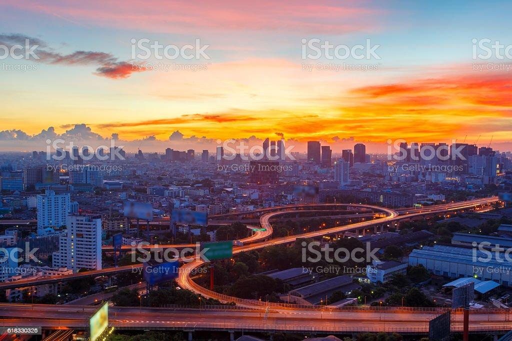 Bangkok Expressway and Highway top view圖像檔