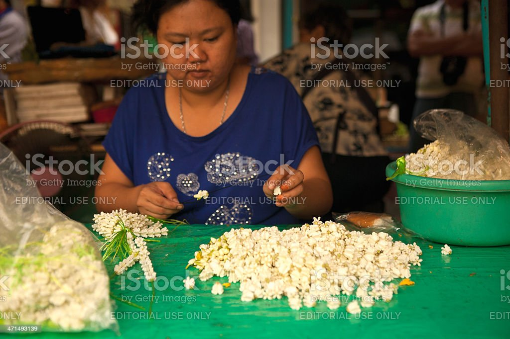 Bangkok Flower Market royalty-free stock photo
