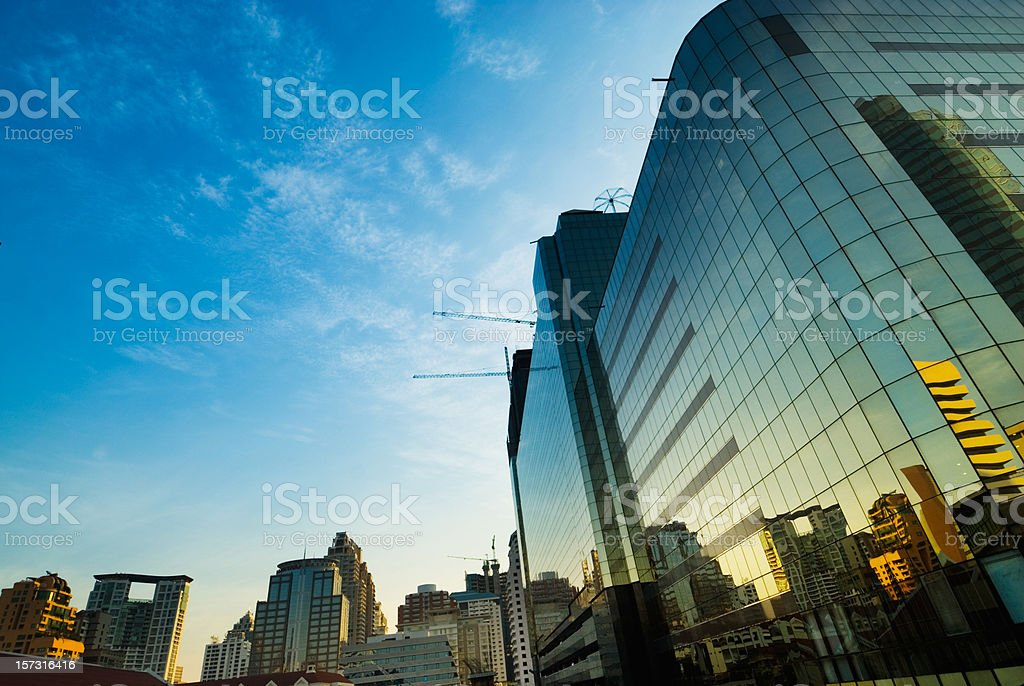 Bangkok Glass Building royalty-free stock photo