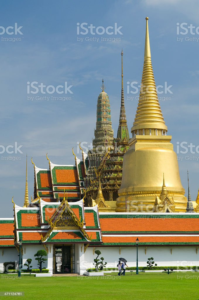 bangkok grand palace royalty-free stock photo