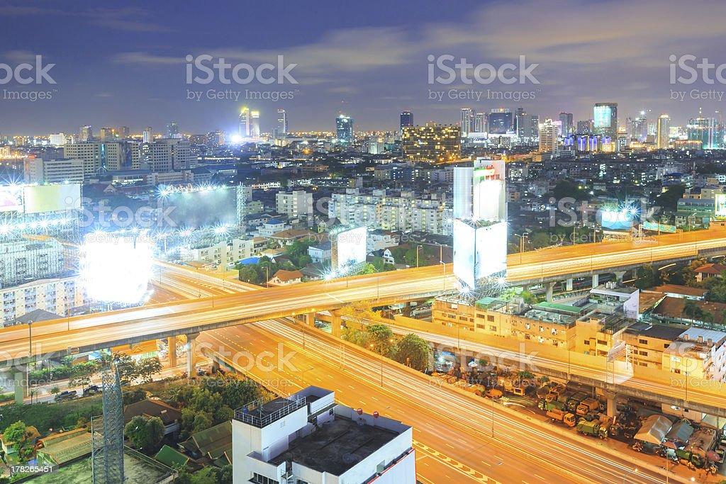 Bangkok Highway to Downtown royalty-free stock photo