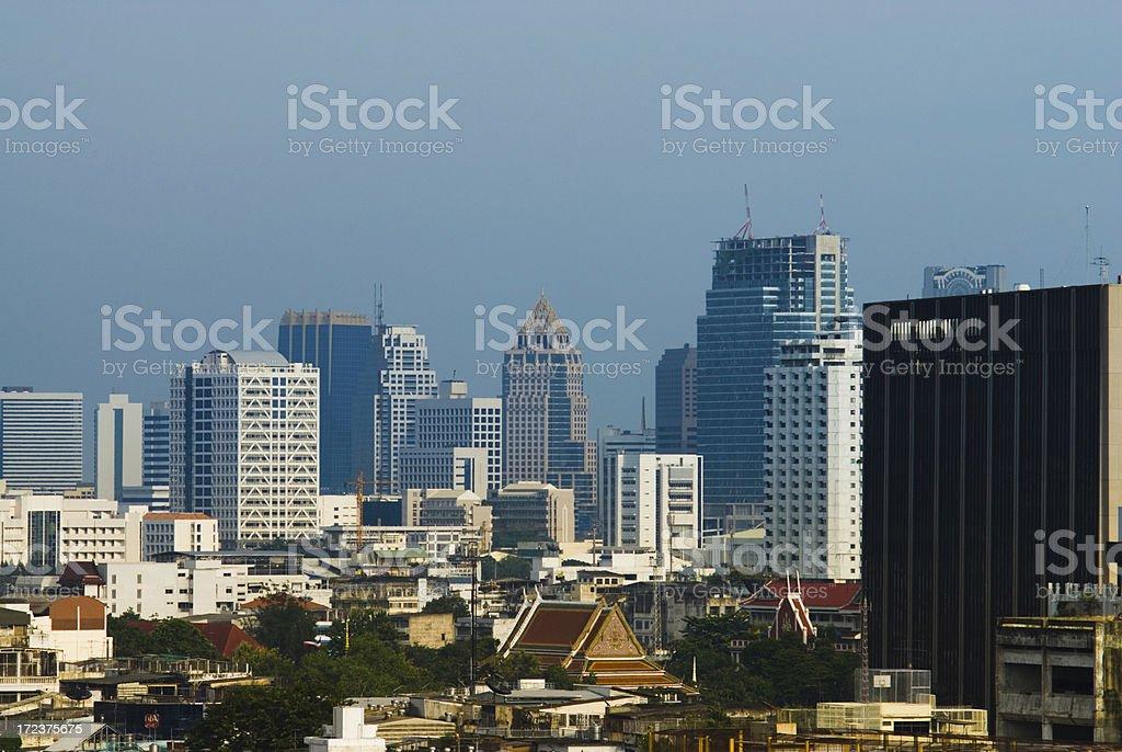 Bangkok Houses and Skyscrapers 3 royalty-free stock photo
