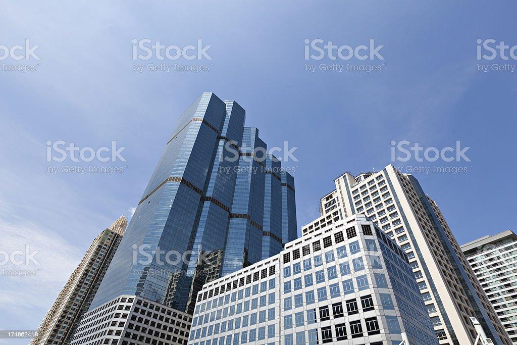 bangkok office buildings stock photo